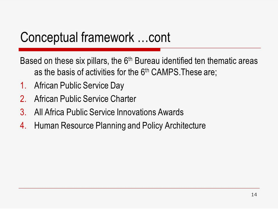 Conceptual framework …cont