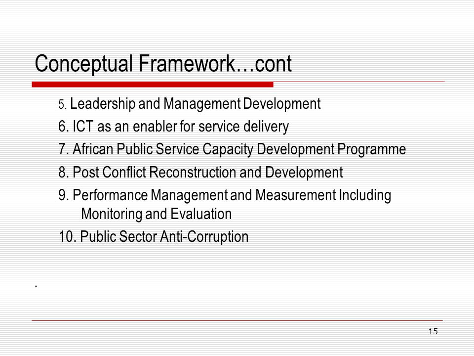 Conceptual Framework…cont
