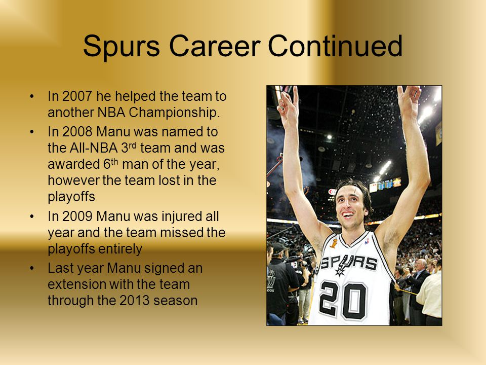 Spurs Career Continued