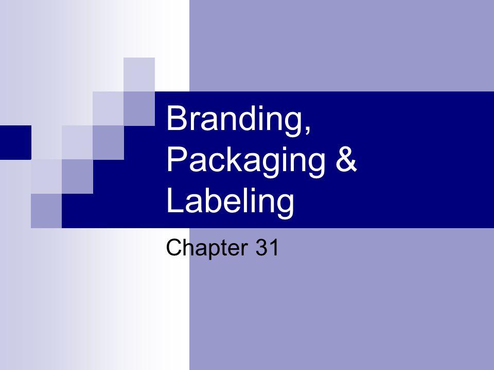 Branding, Packaging & Labeling
