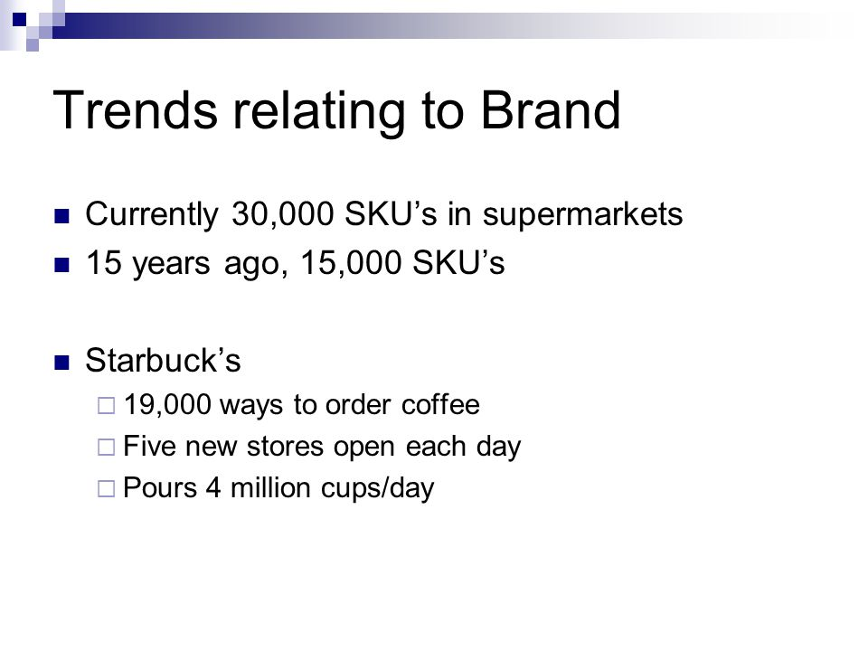 Trends relating to Brand