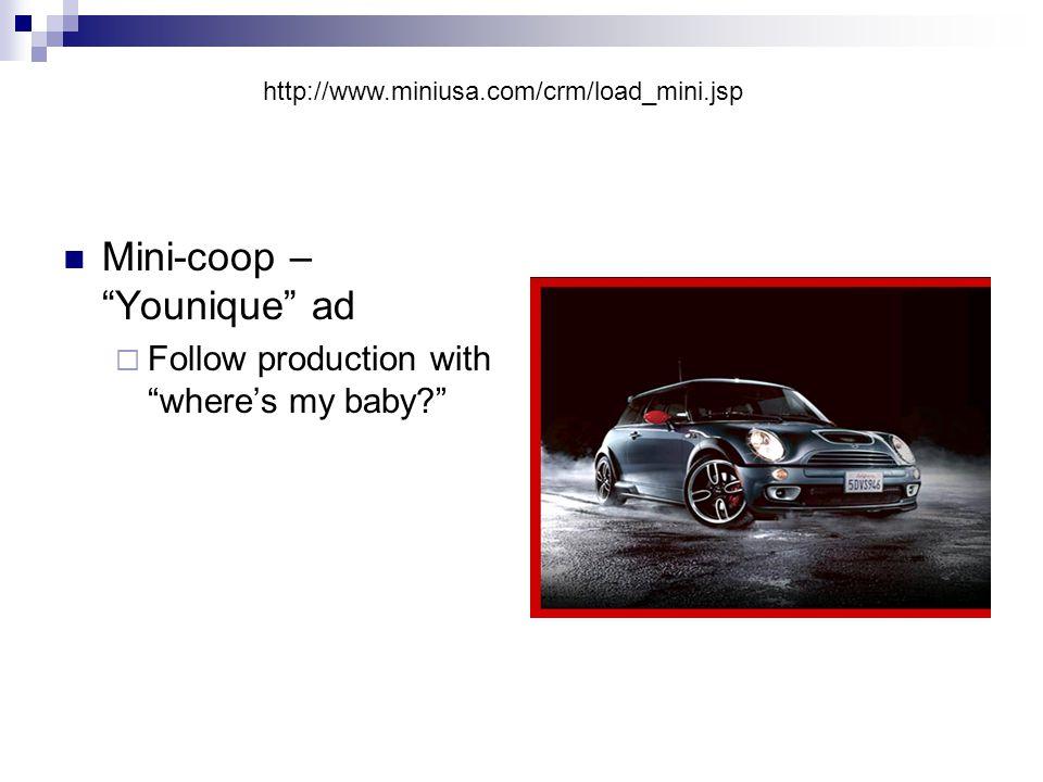 Mini-coop – Younique ad