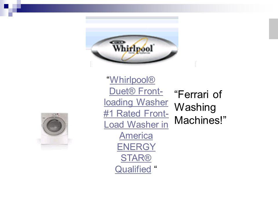 Ferrari of Washing Machines!