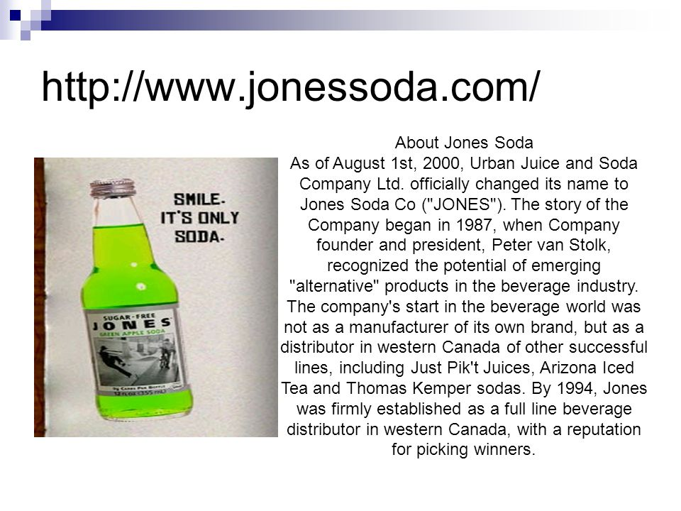 About Jones Soda