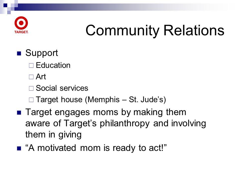 Community Relations Support