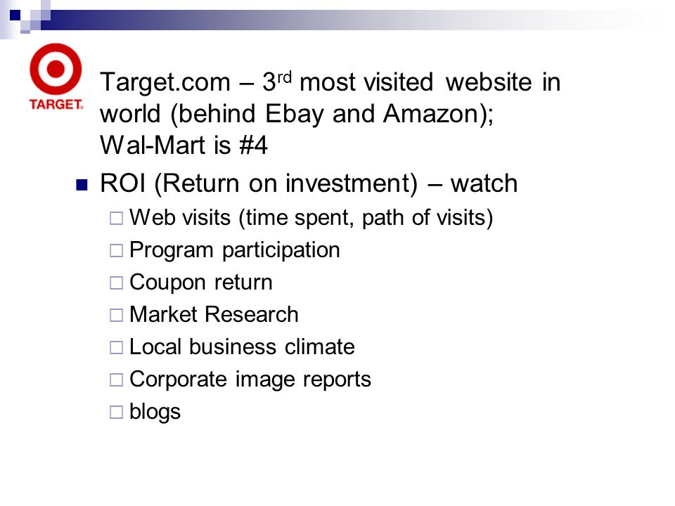 ROI (Return on investment) – watch