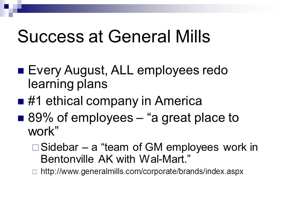 Success at General Mills