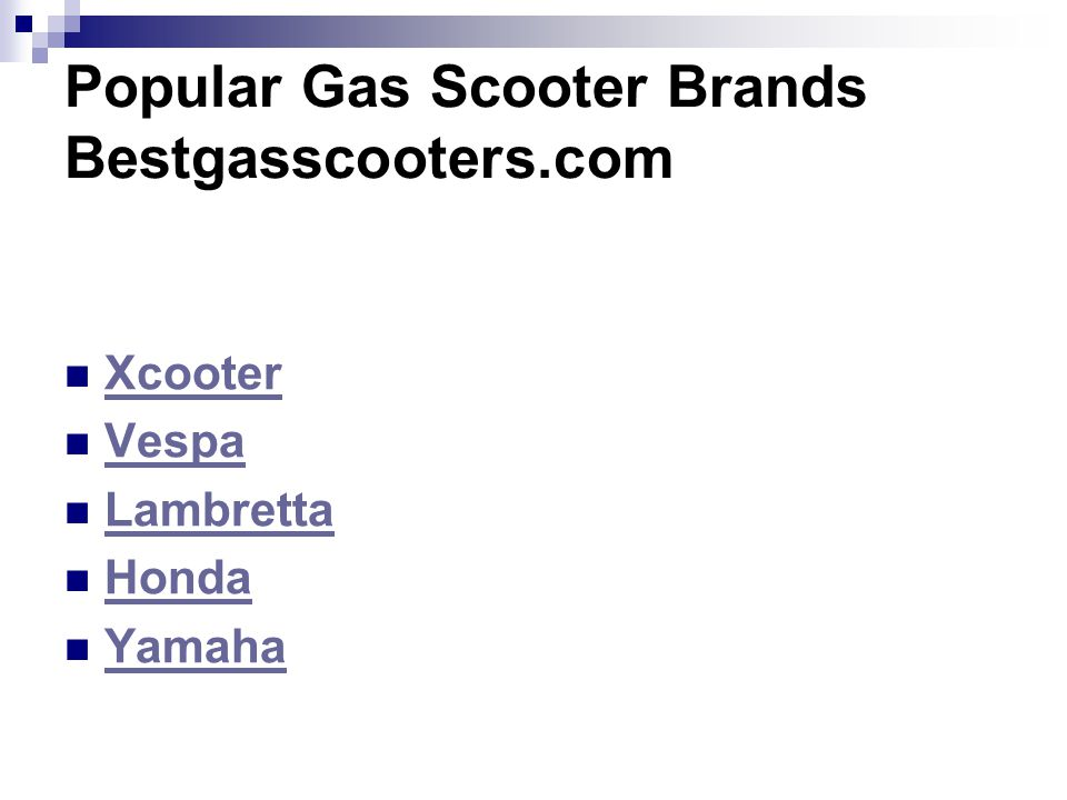 Popular Gas Scooter Brands Bestgasscooters.com