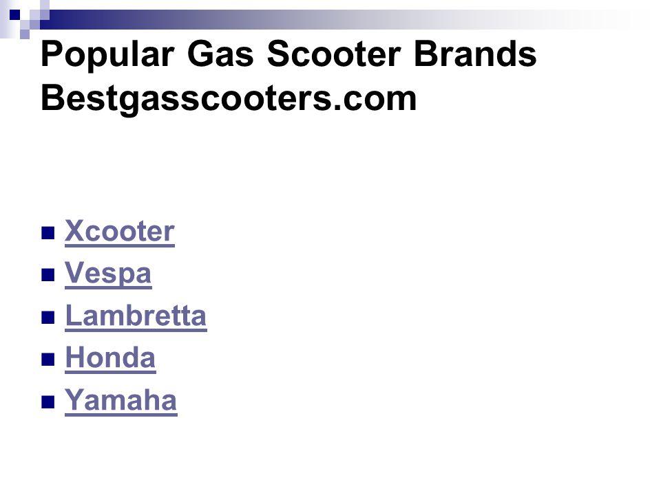 Popular Gas Scooter Brands Bestgasscooters.com
