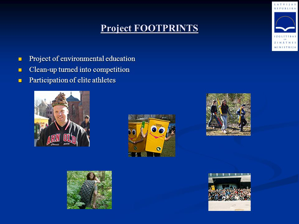 Project FOOTPRINTS Project of environmental education