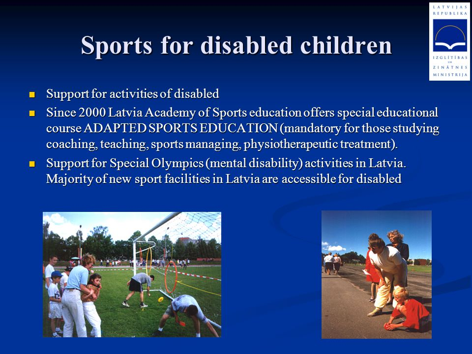 Sports for disabled children