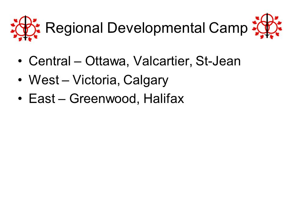 Regional Developmental Camp