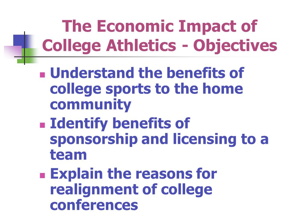 The Economic Impact of College Athletics - Objectives