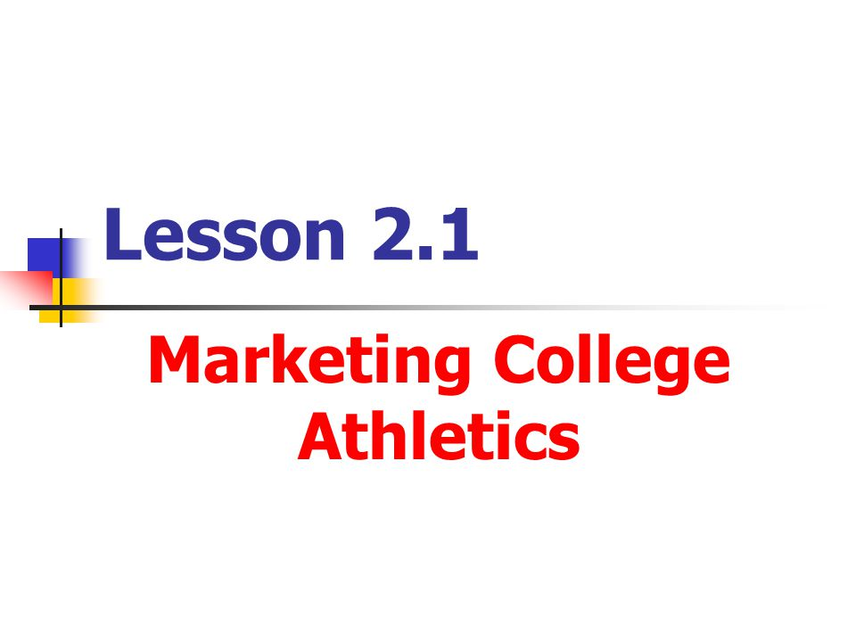 Marketing College Athletics