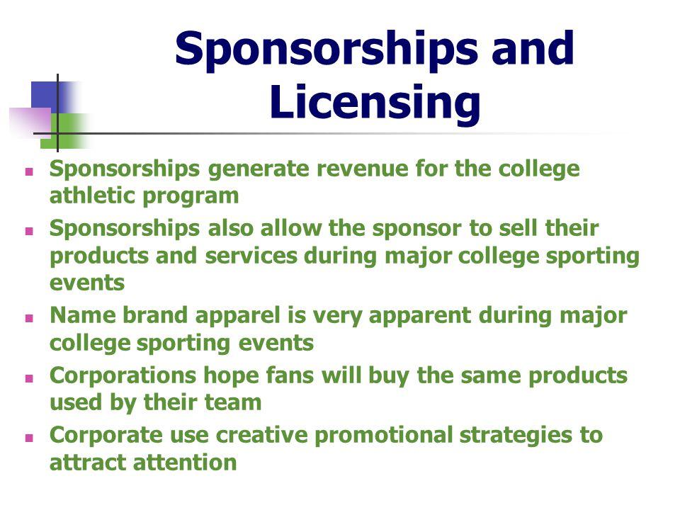Sponsorships and Licensing