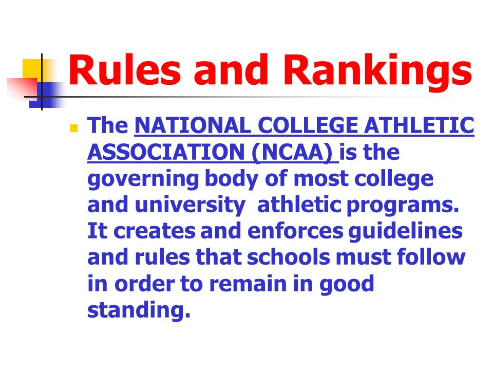 Rules and Rankings