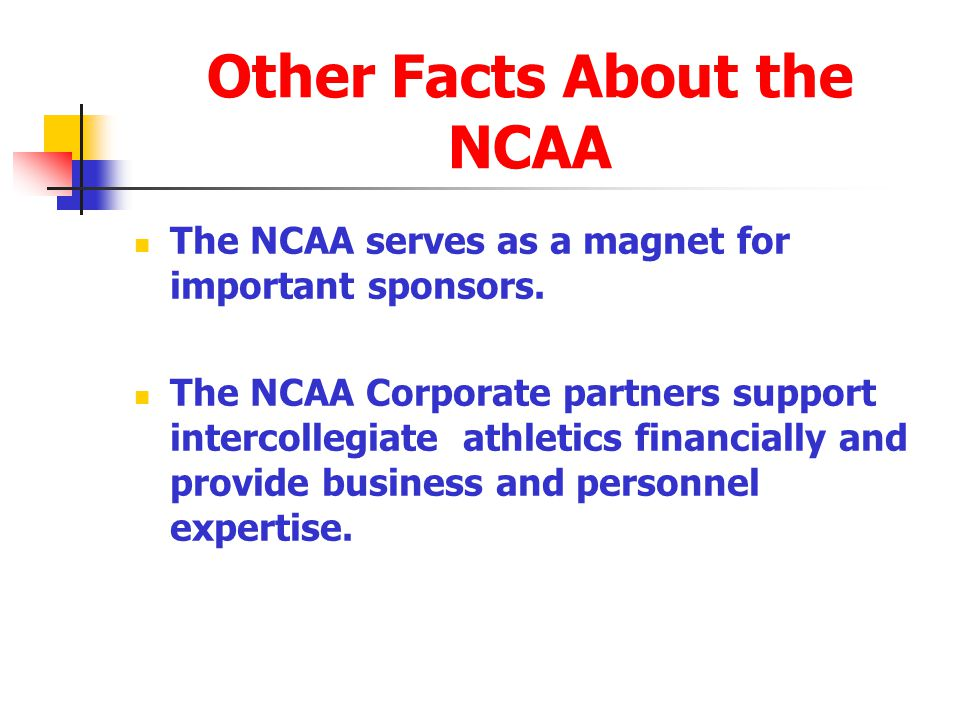 Other Facts About the NCAA
