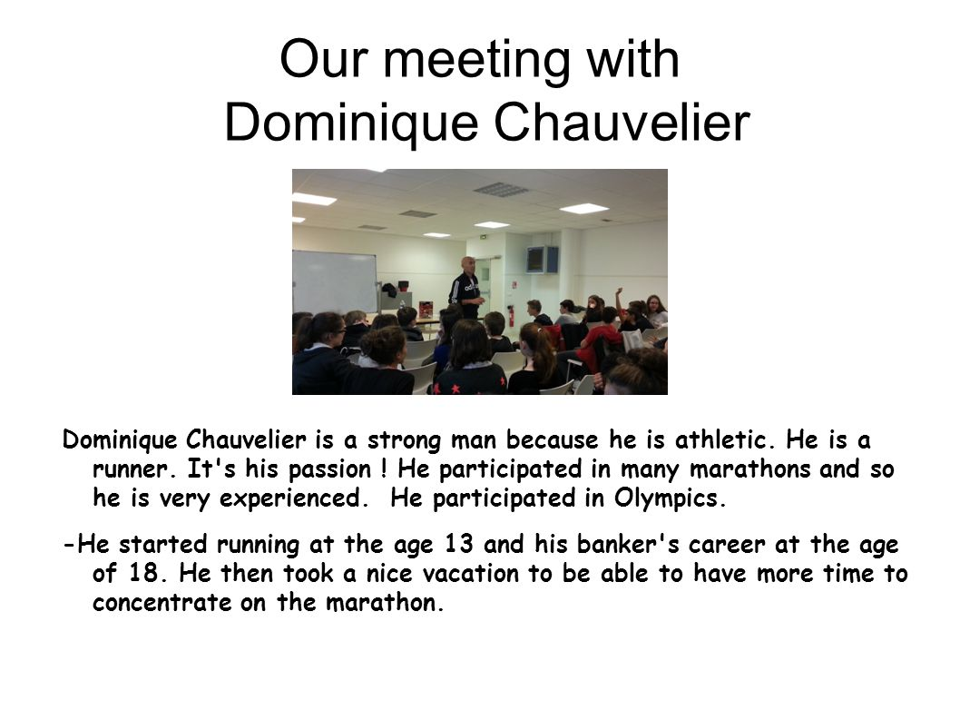 Our meeting with Dominique Chauvelier