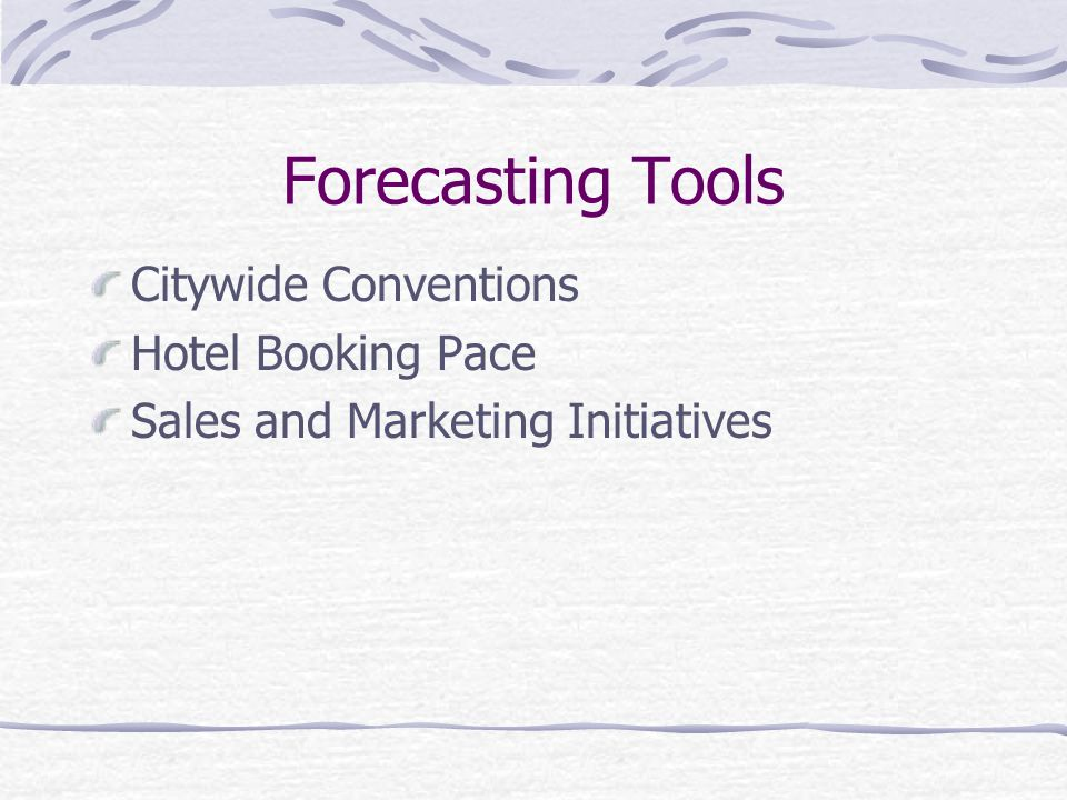 Forecasting Tools Citywide Conventions Hotel Booking Pace