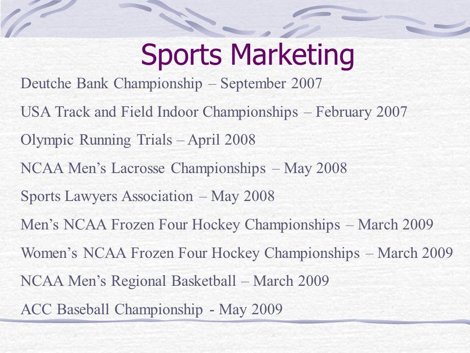 Sports Marketing Deutche Bank Championship – September 2007