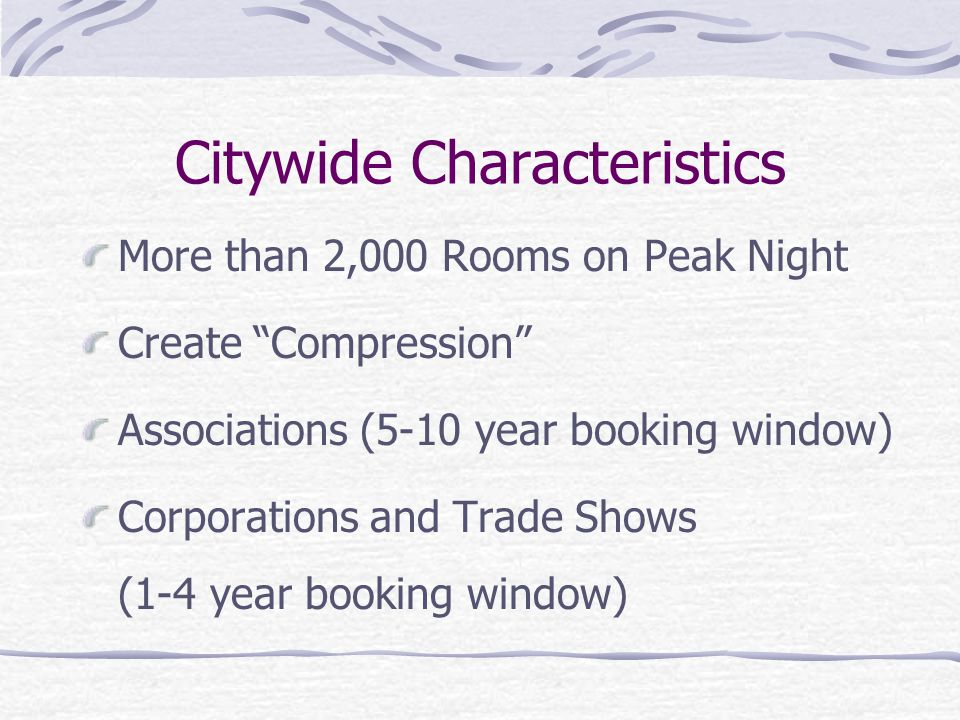 Citywide Characteristics