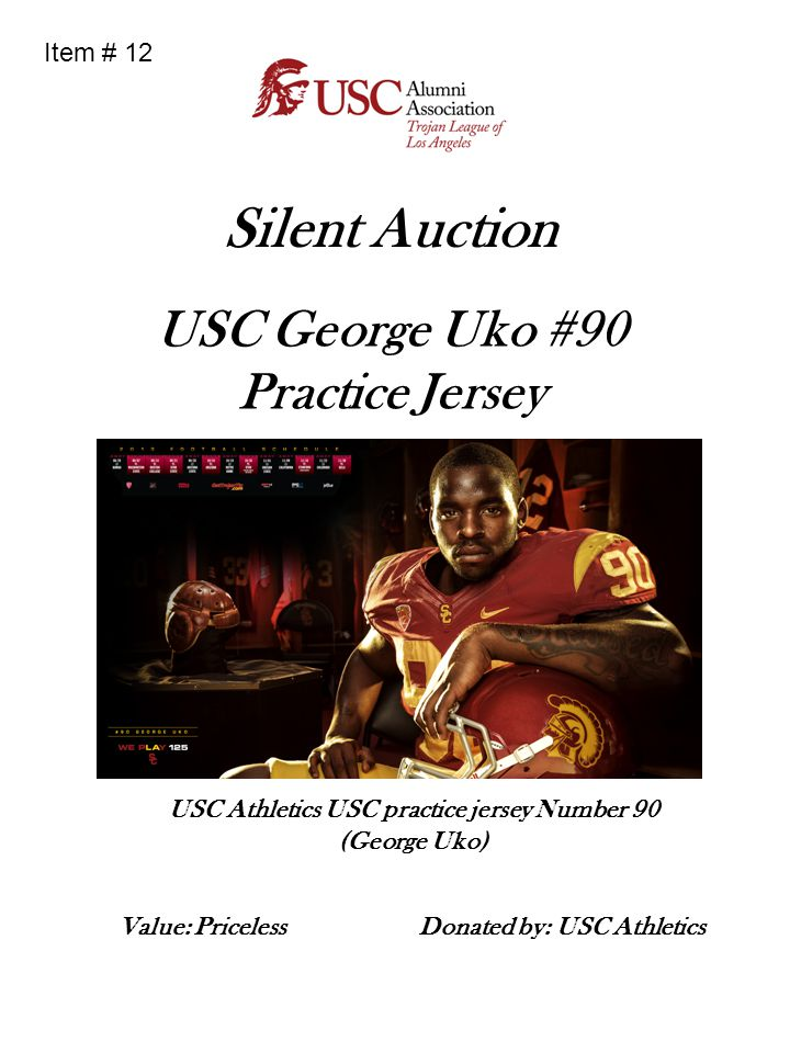 Silent Auction USC George Uko #90 Practice Jersey Item # 12