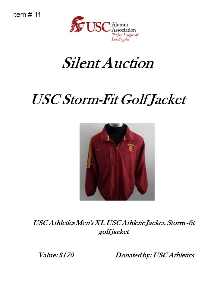 Silent Auction USC Storm-Fit Golf Jacket Item # 11