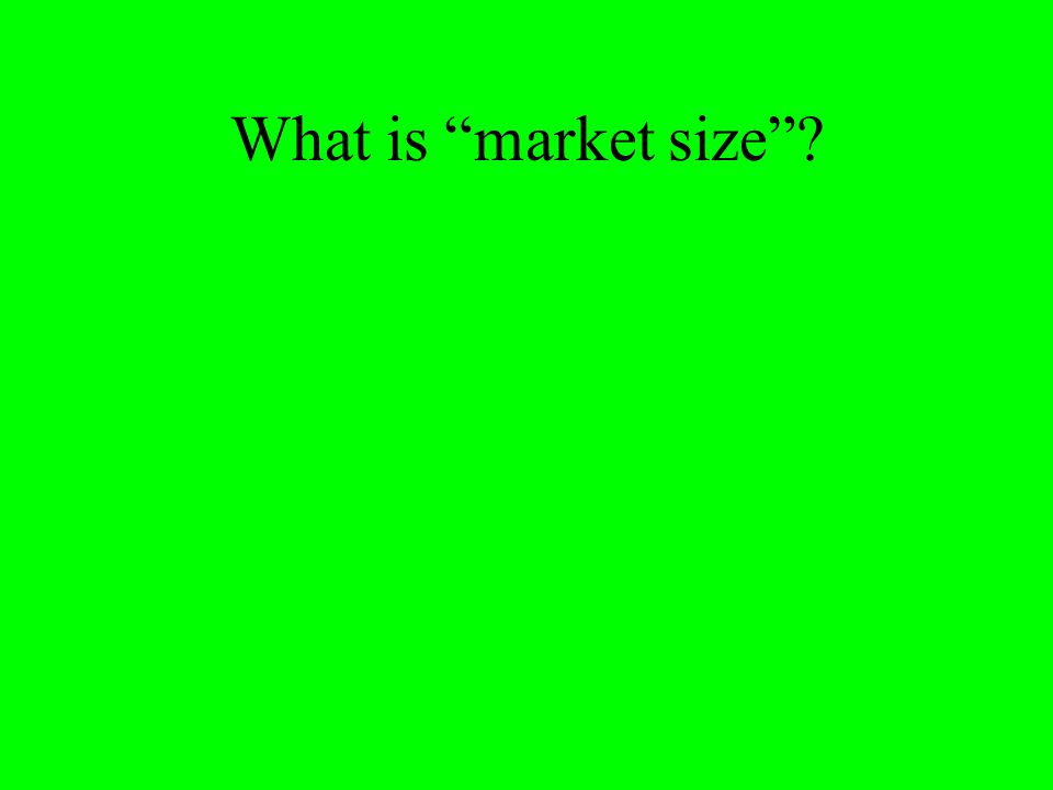 What is market size