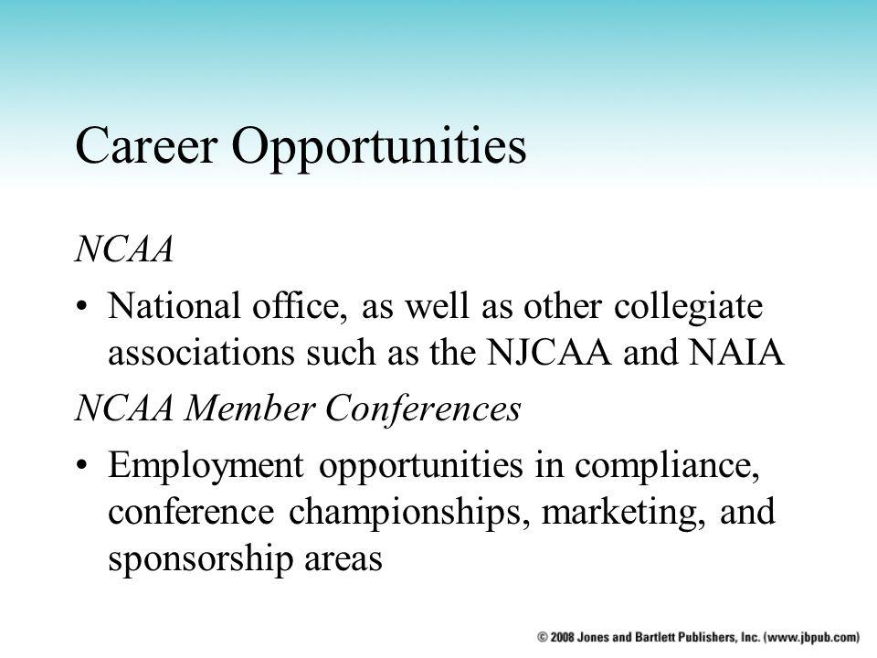 Career Opportunities NCAA
