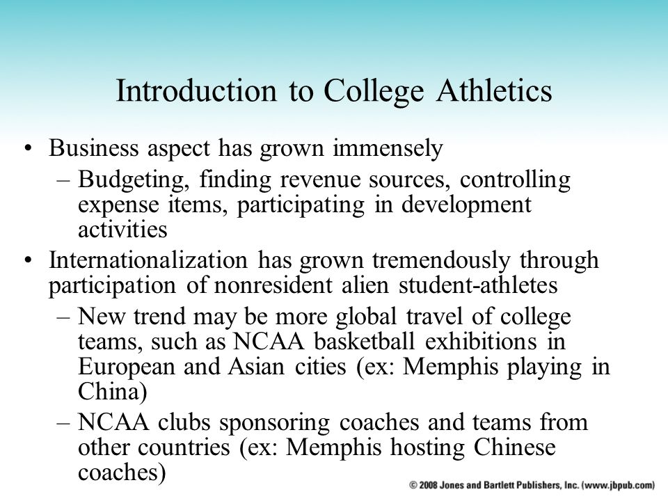 Introduction to College Athletics