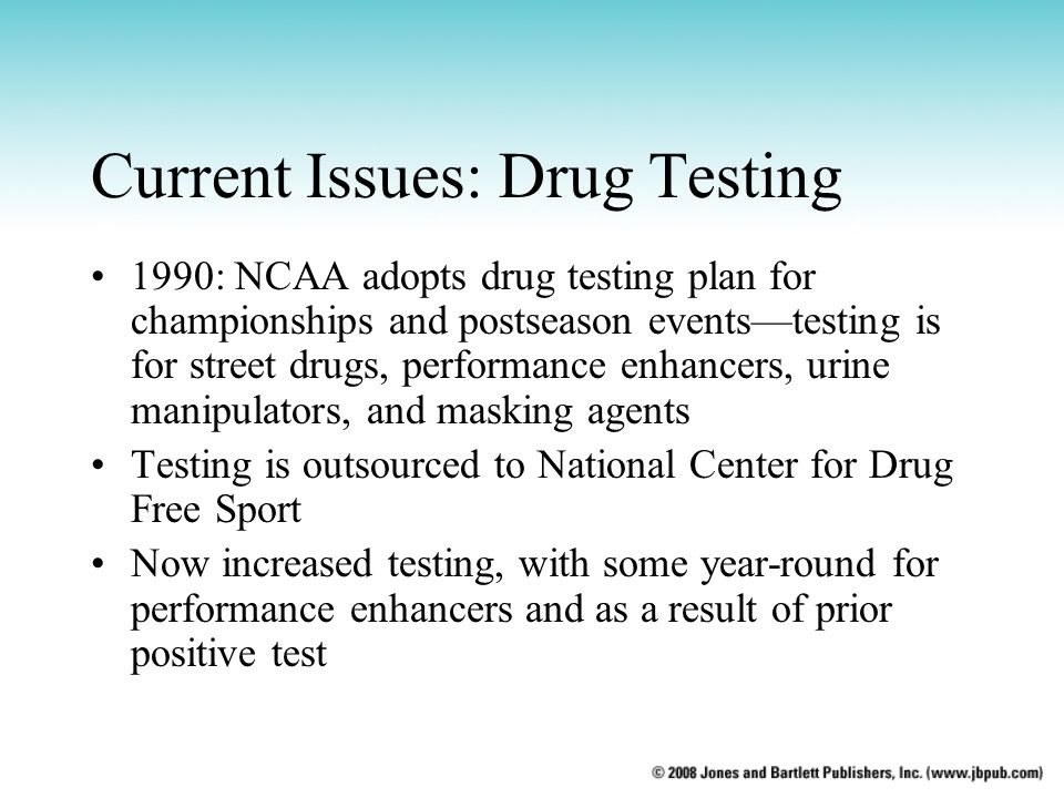 Current Issues: Drug Testing