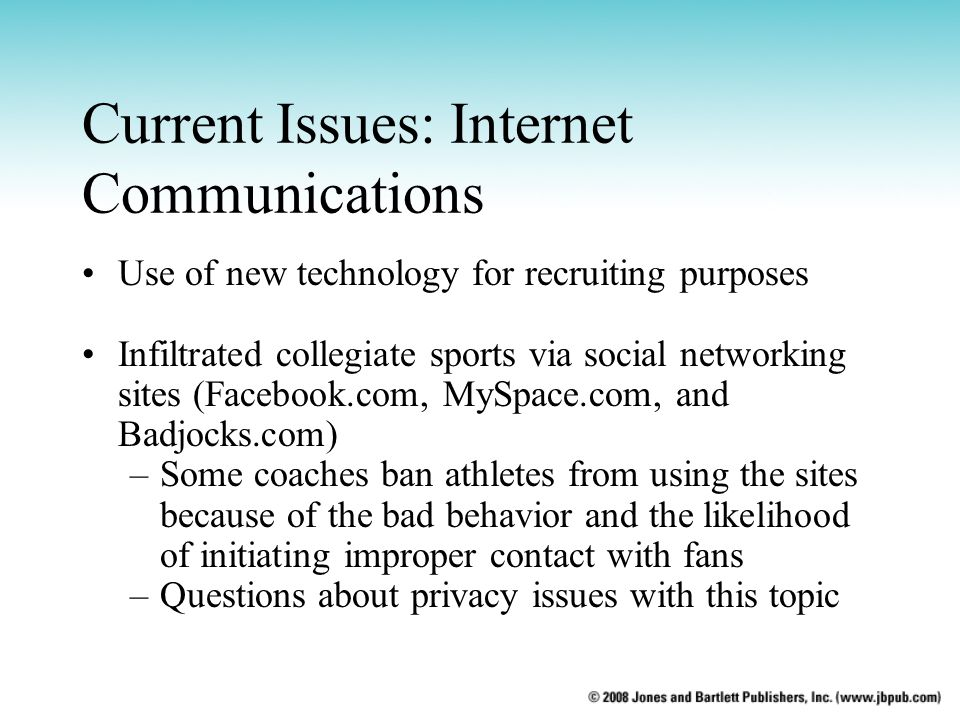 Current Issues: Internet Communications