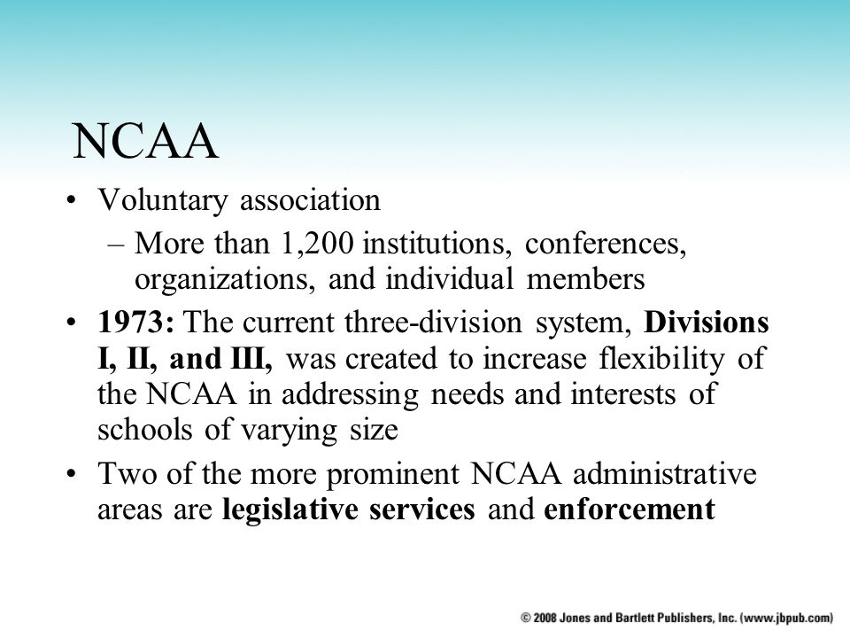 NCAA Voluntary association