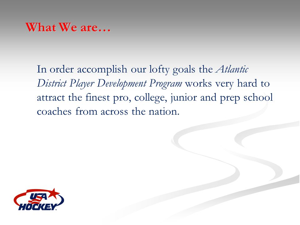 What We are…
