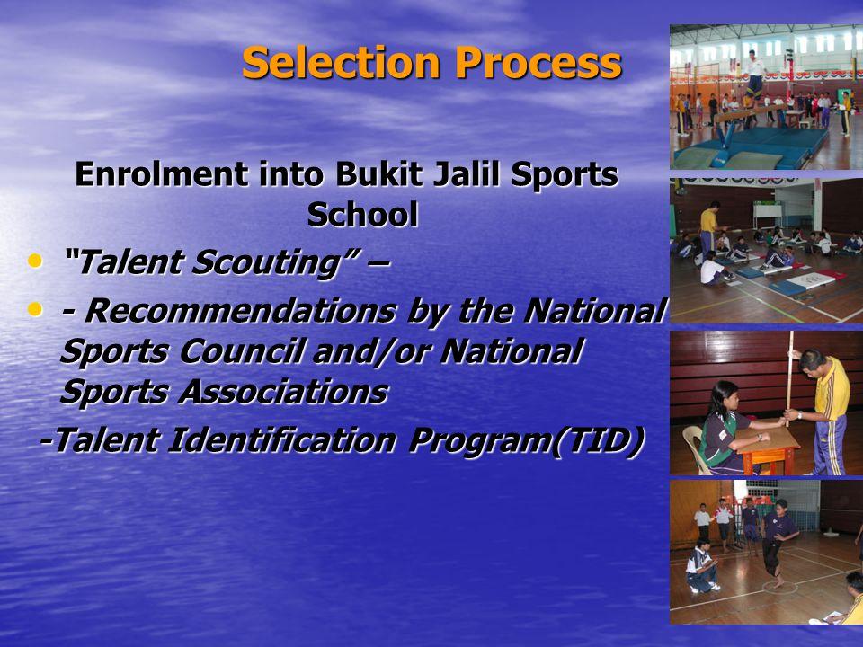 Enrolment into Bukit Jalil Sports School