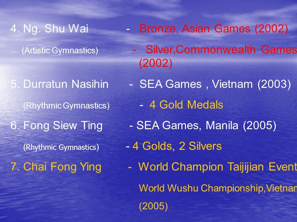 4. Ng. Shu Wai - Bronze, Asian Games (2002)