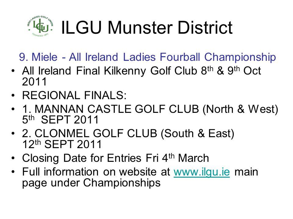9. Miele - All Ireland Ladies Fourball Championship