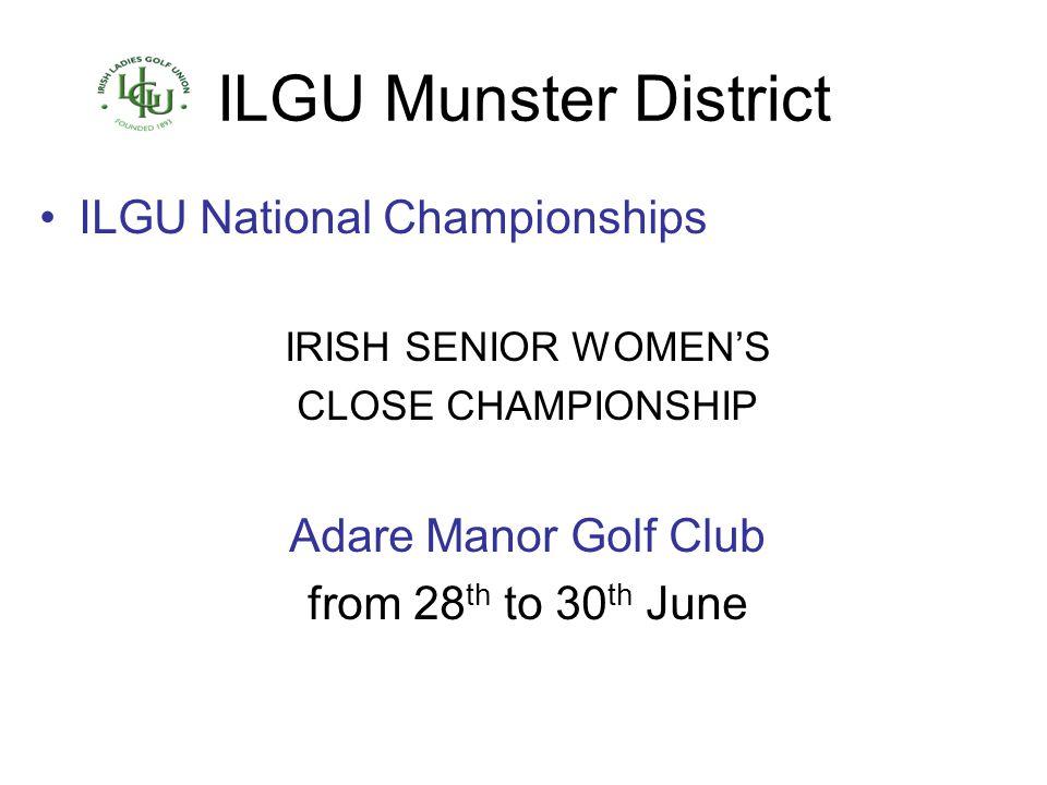 ILGU Munster District ILGU National Championships