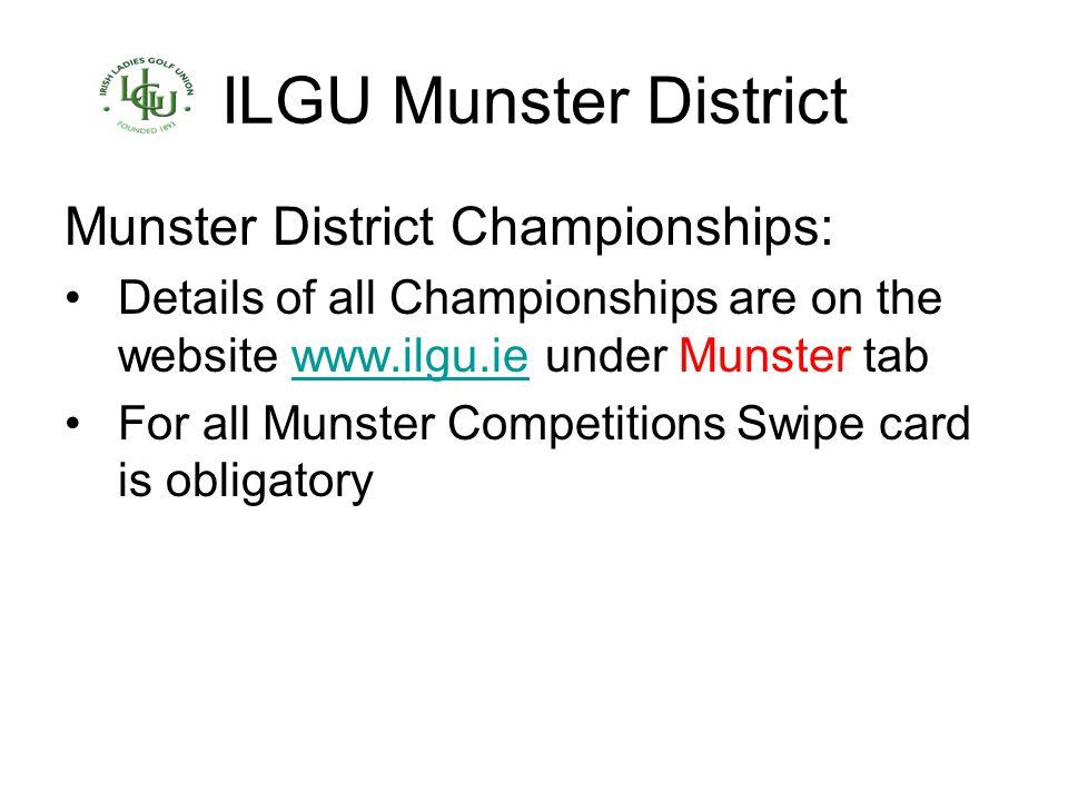 ILGU Munster District Munster District Championships: