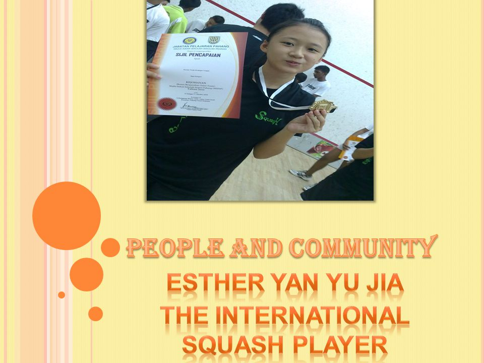 Esther Yan Yu Jia The International Squash Player