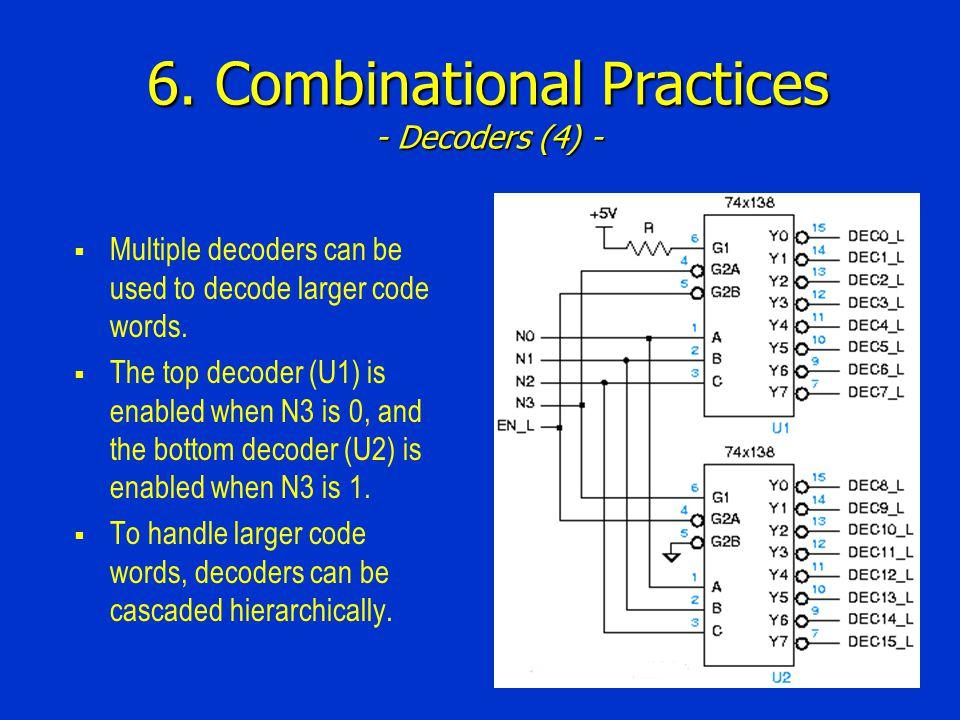 6. Combinational Practices - Decoders (4) -