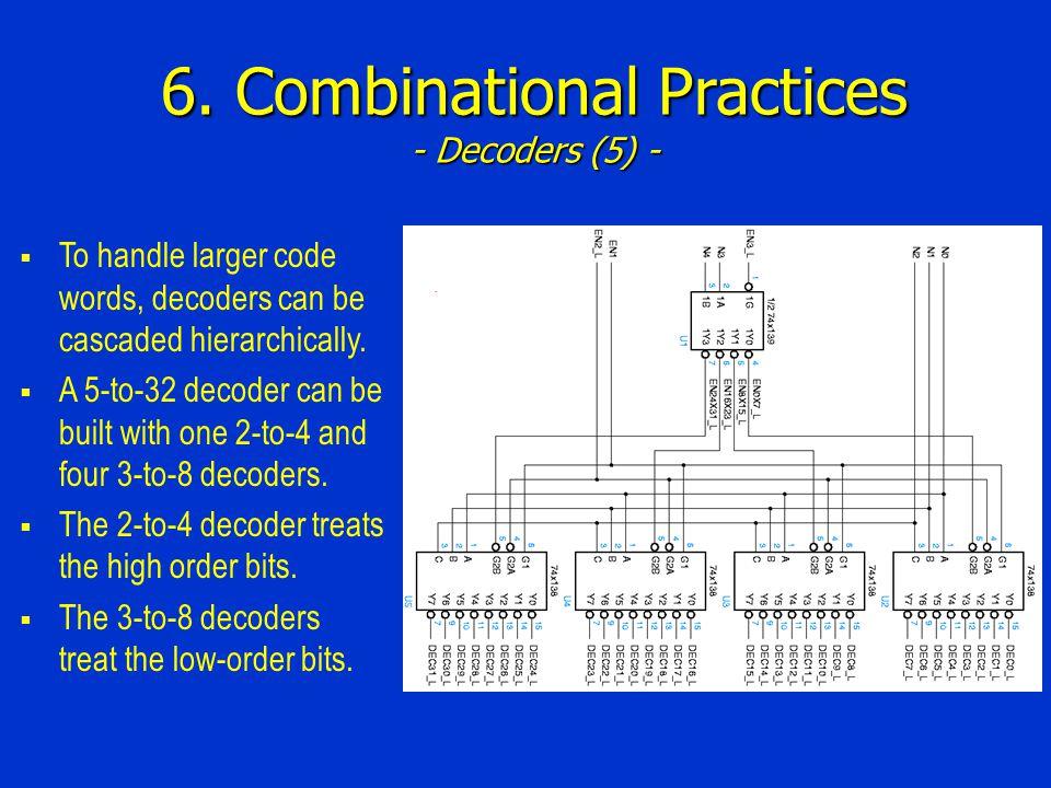6. Combinational Practices - Decoders (5) -