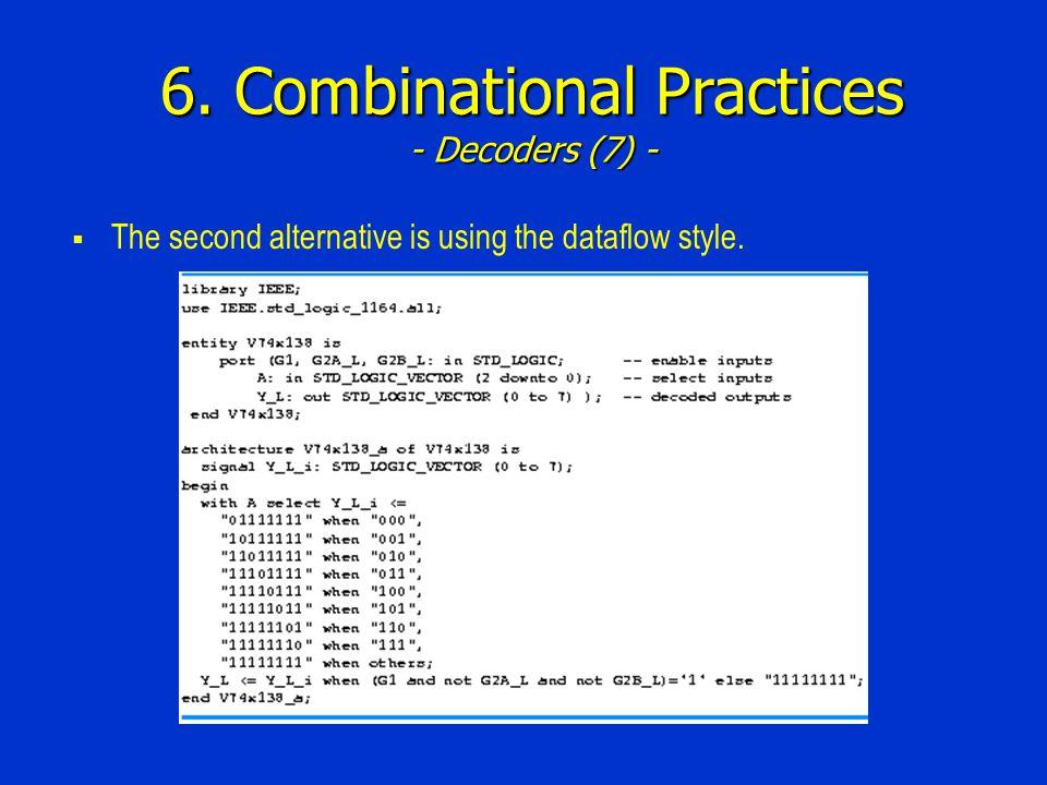 6. Combinational Practices - Decoders (7) -