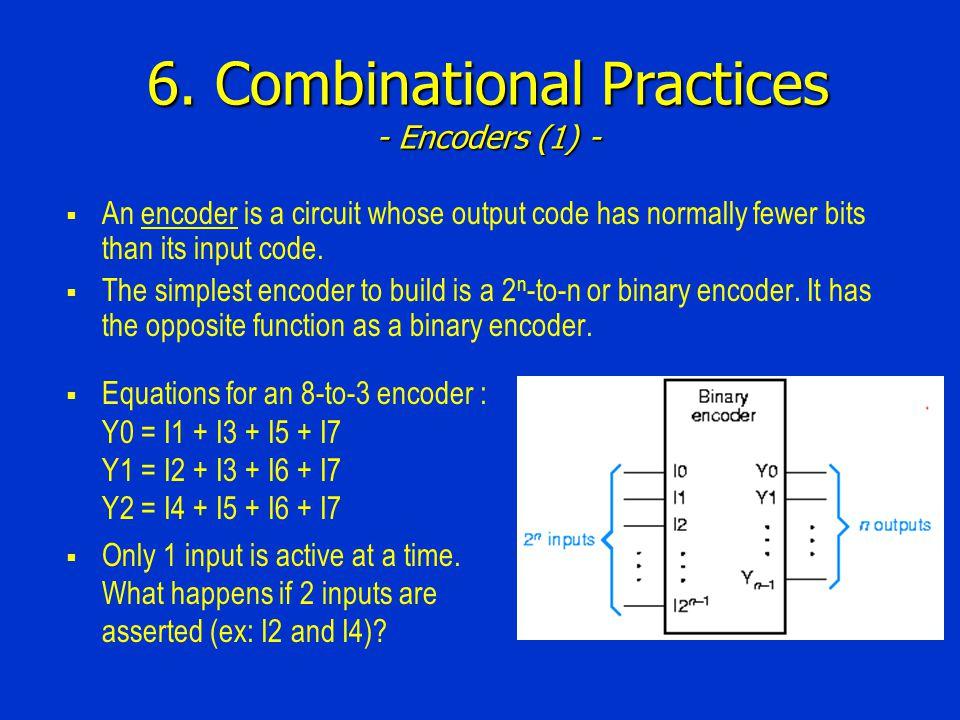 6. Combinational Practices - Encoders (1) -