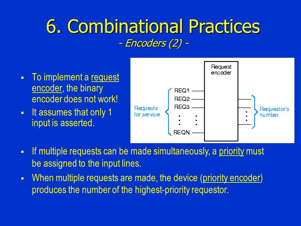 6. Combinational Practices - Encoders (2) -