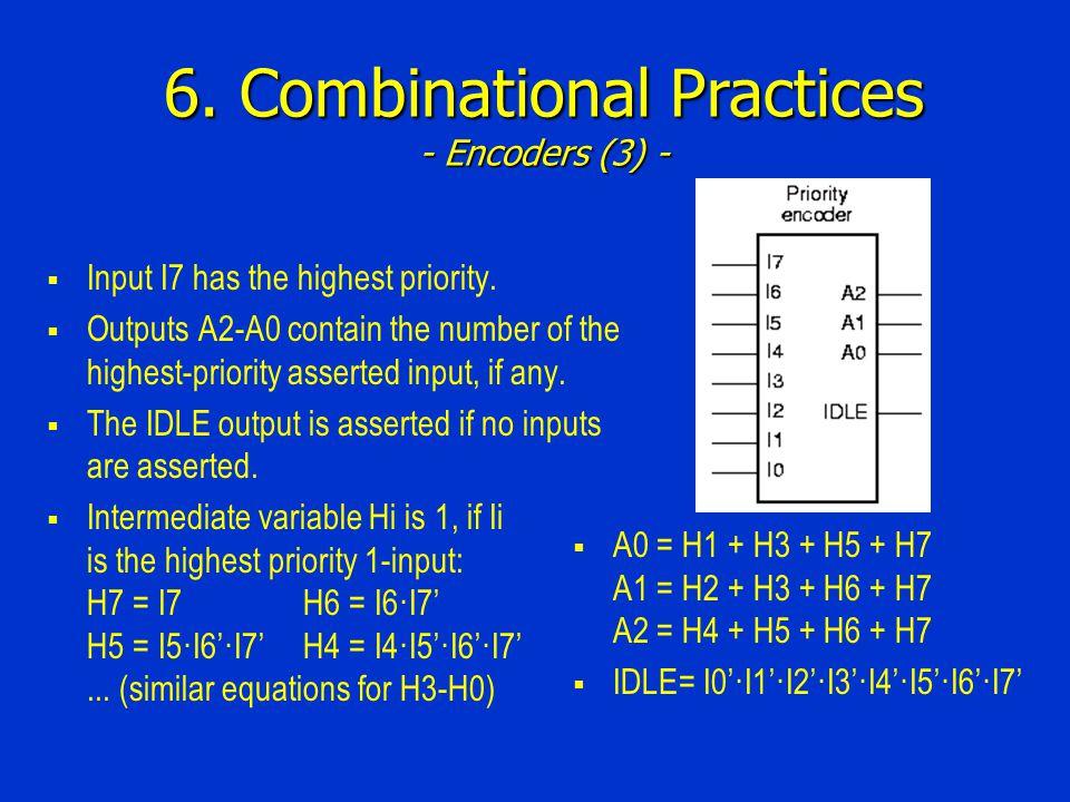 6. Combinational Practices - Encoders (3) -