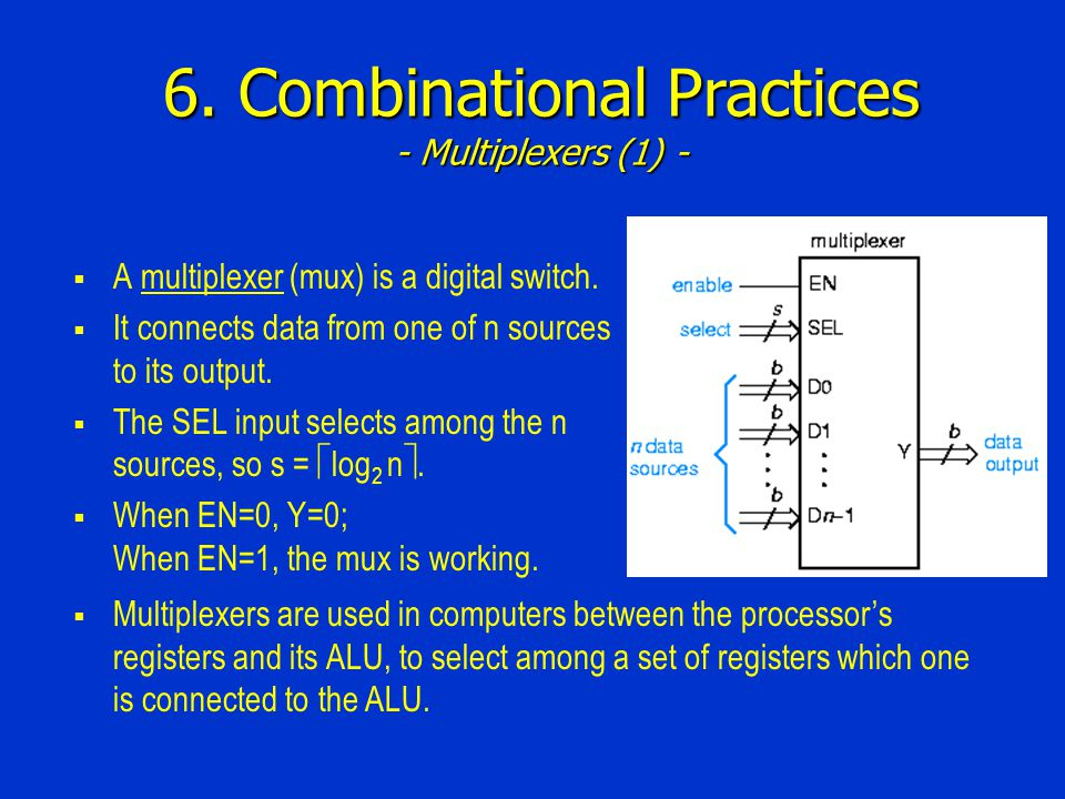 6. Combinational Practices - Multiplexers (1) -