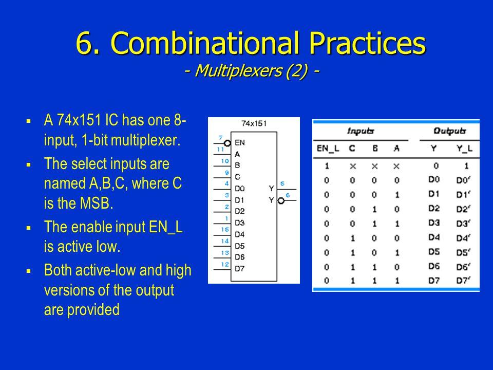 6. Combinational Practices - Multiplexers (2) -