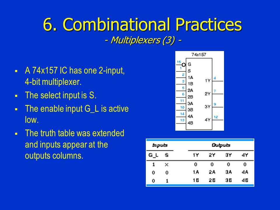 6. Combinational Practices - Multiplexers (3) -