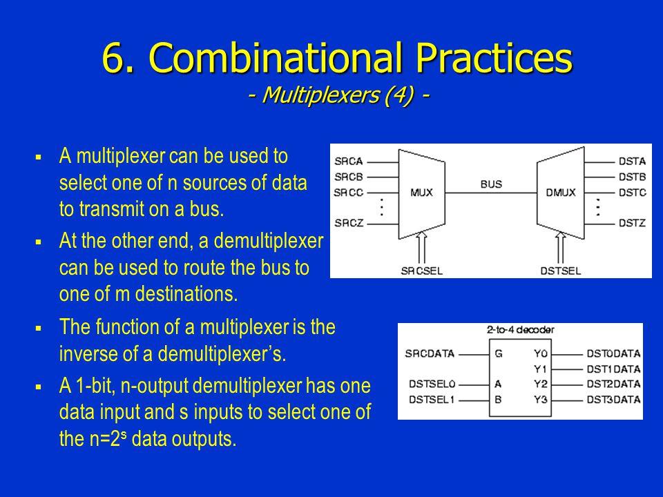 6. Combinational Practices - Multiplexers (4) -